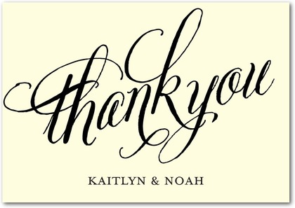 Thank You Cards Here and Vow - Front : Black