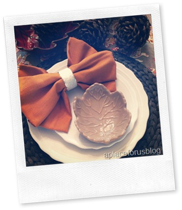 A Table Setting Idea {How to make a Bow Tie Napkin} | Just Destiny