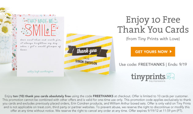 10 free thank you cards from tiny prints just destiny