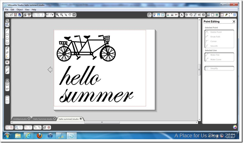 Hello Summer Printed