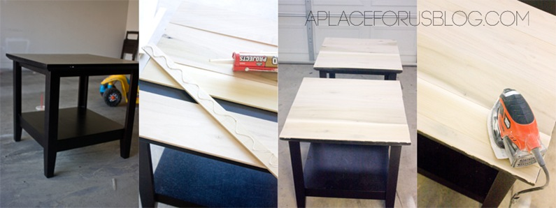How to make a wood top table