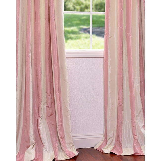 Pink And Cream Striped Curtains Overstock Com Just Destiny