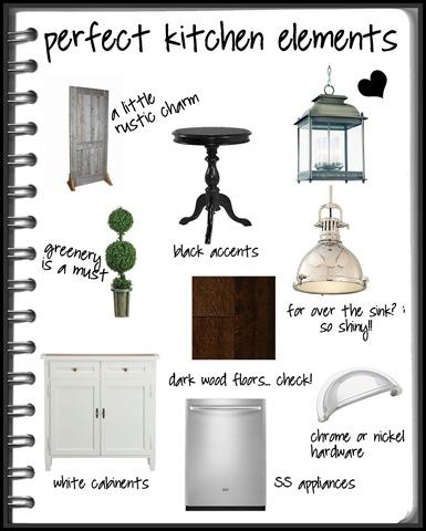 Little Black Notebook Kitchen Elements