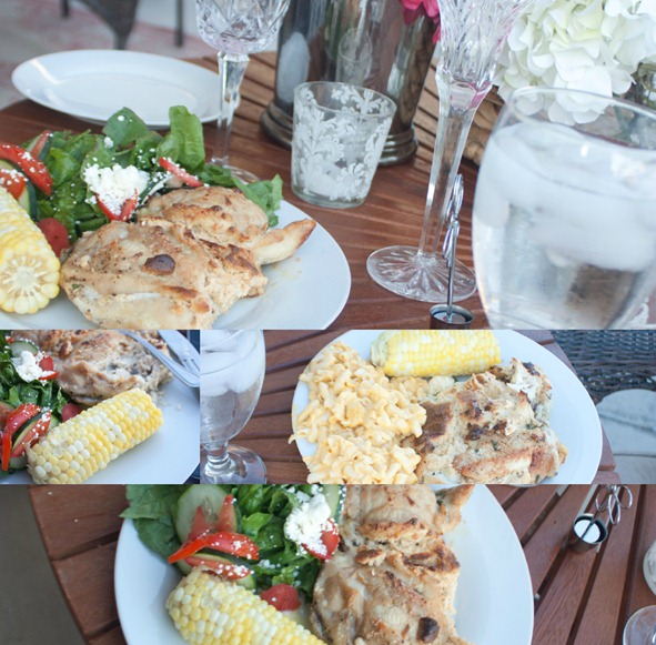 Patio Dinner for Two Table Food
