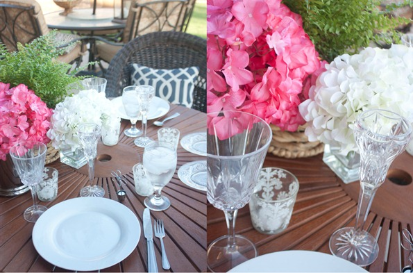Patio Dinner for Two Table Setting