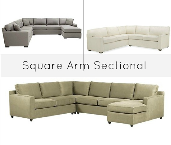 Square arm Sectional