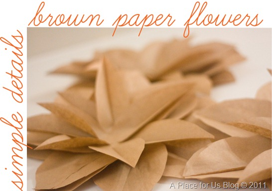 Brown paper flowers tutorial just destiny brown paper flowers tutorial mightylinksfo