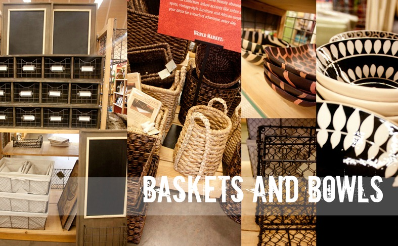 World Market Baskets and Bowls