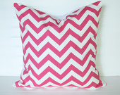 2 pink Chevron  Pillow Covers 18x18