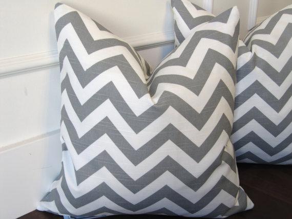 Light Gray Cheveron 16x16inch decorative pillow cover