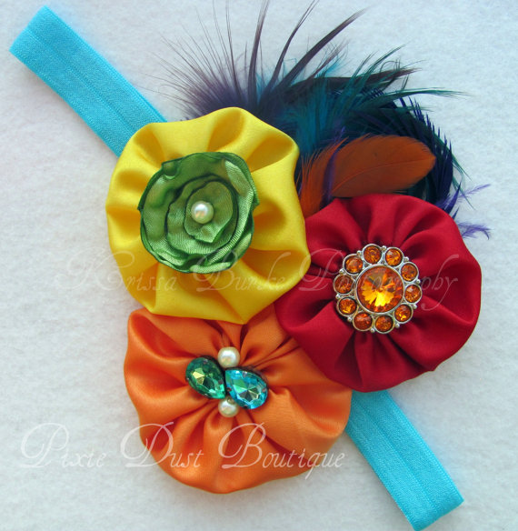 La Carnival-over the top Carnival Couture Birthday headband, photo prop, first birthday