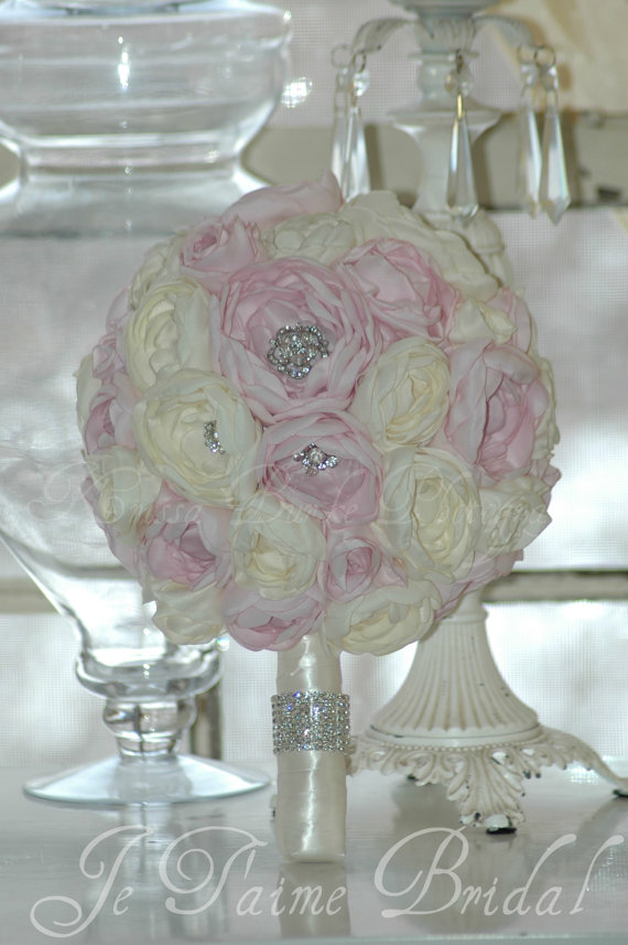 Juliet- Wedding/Bridal Bouquet-100% Hand made Roses and Peonies-READY2SHIP