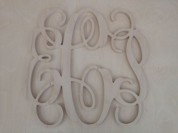 24 inch Vine connected monogram letters