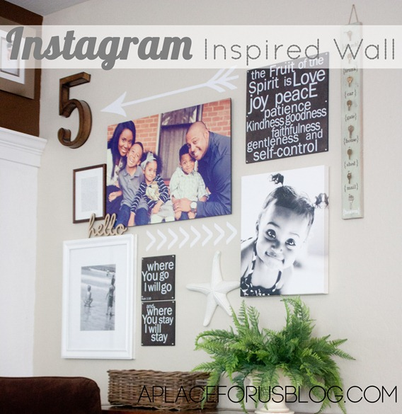 Instagram Inspired Wall