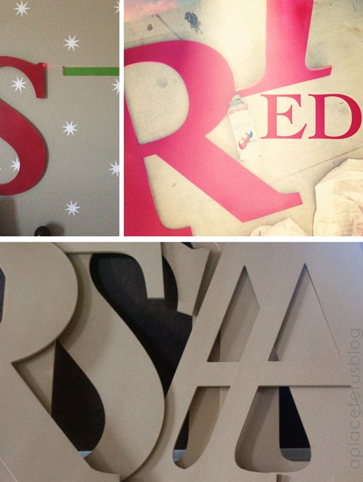 Large Craft Letters for Nursery