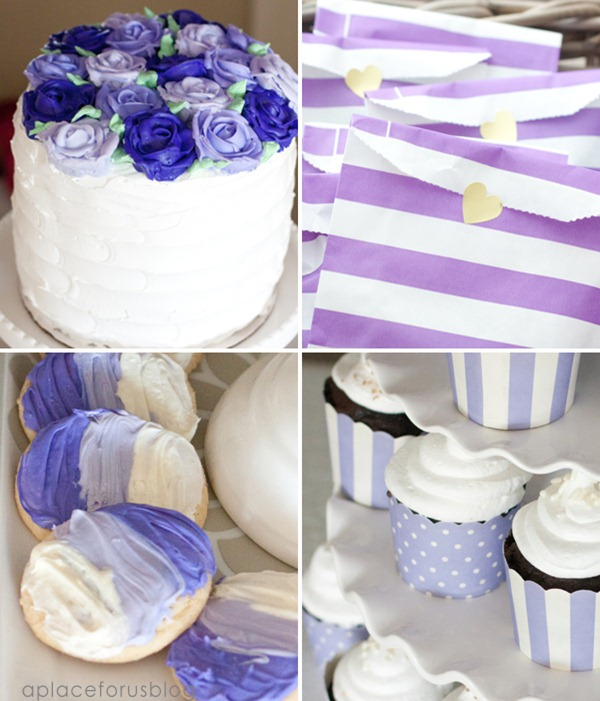 Purple Ombre Sofia the First Party-Great Ideas from A Place for Us Blog