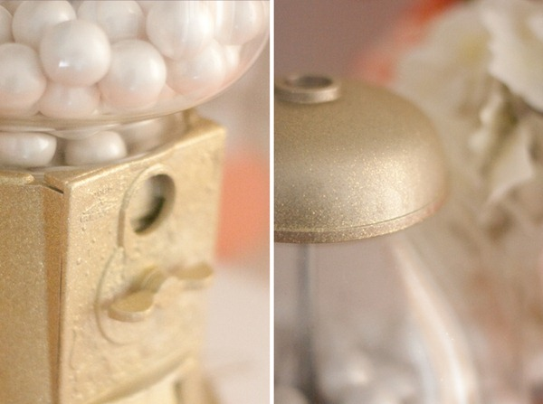 Golden Gumball Machine