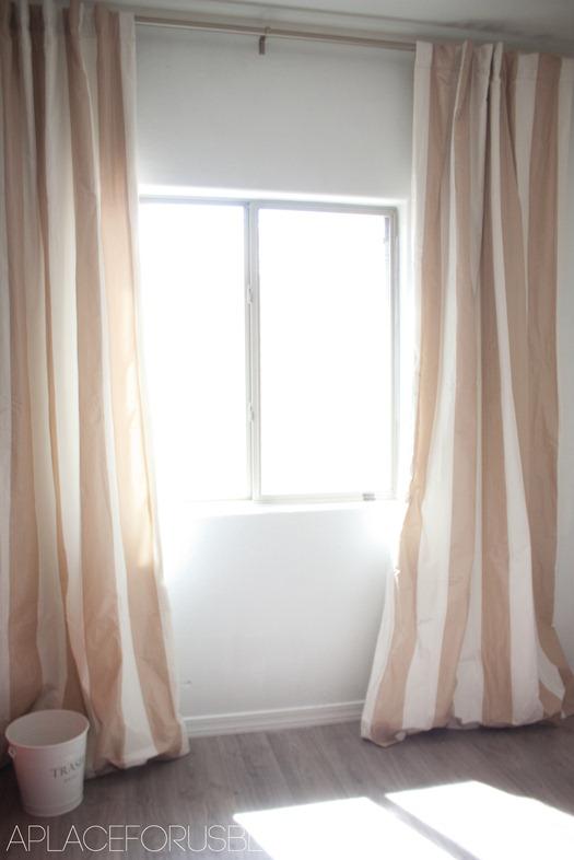 light brown curtains