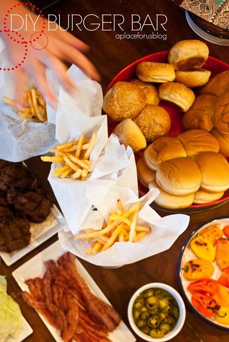 DIY Burger Bar Idea