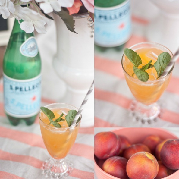 Peach-and-Mint Summer Party