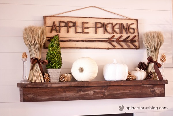 Easy Fall Mantel Ideas