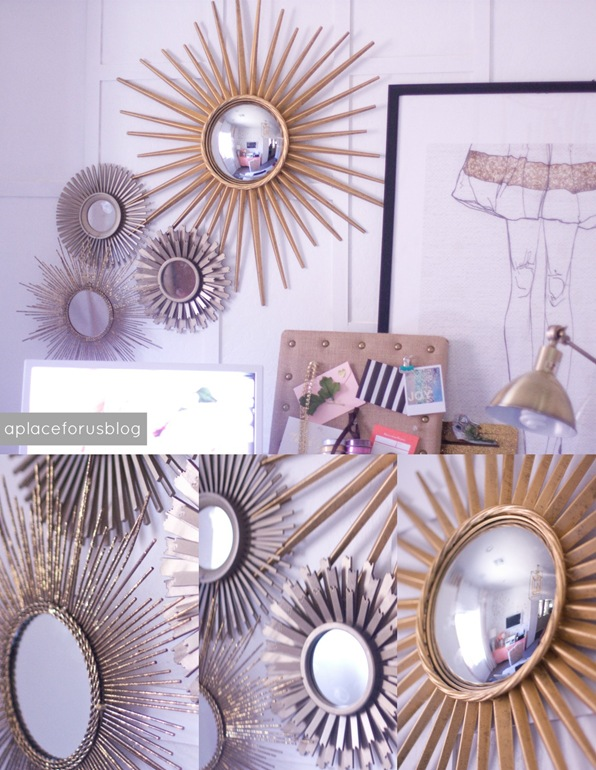 Gold Sunburst Mirrors