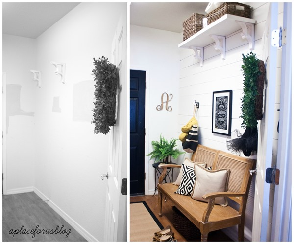 Before and After Mudroom Makevoer