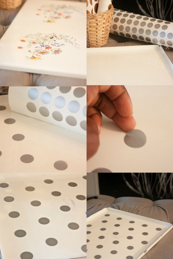 House of Smiths Designs Polka Dot Tray