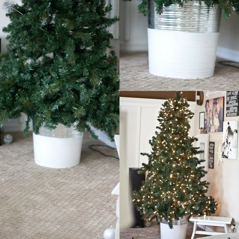 Christmas Tree with Bucket Stand