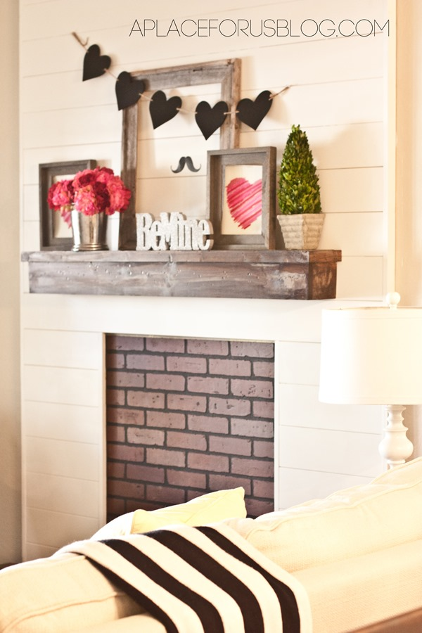 Valentines Day Mantel Ideas