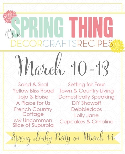 Spring Linky Party plus a HUGE Giveaway!!!!