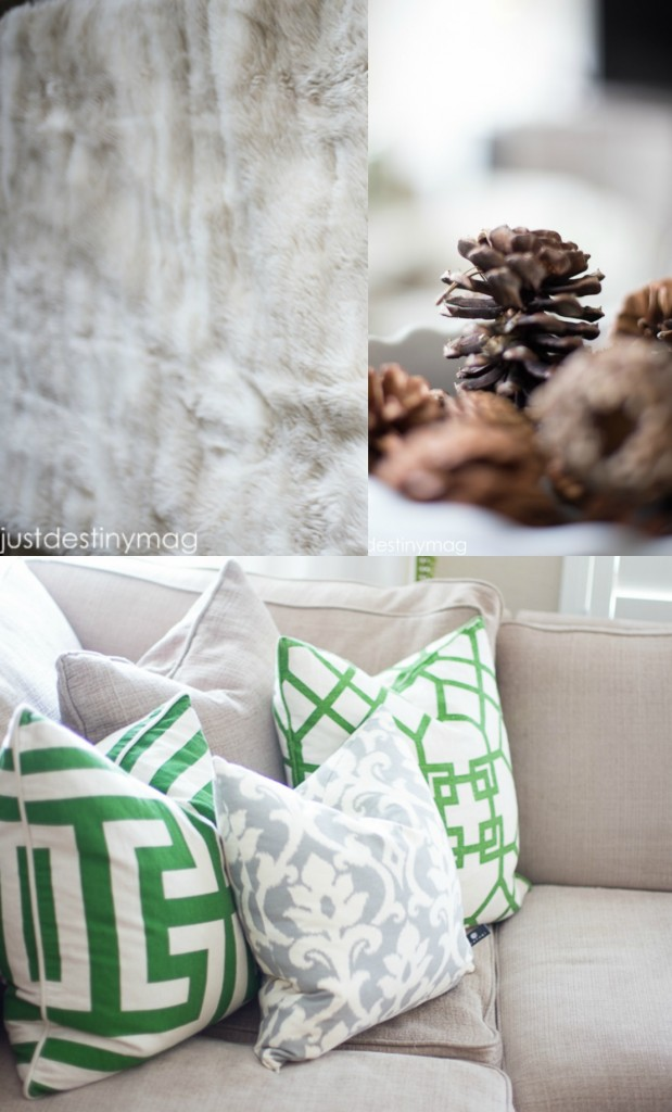 Just Destiny Mag Green Pillows and Textures