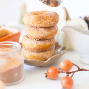 Infused Pumpkin Donuts with Sugar and Cinnamon Coating
