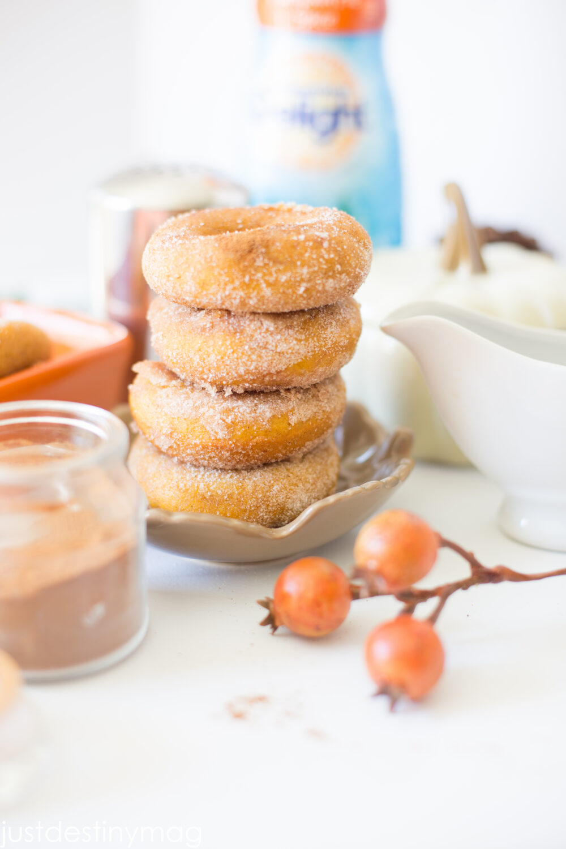 Pumpkin Donuts with Cinnamon and Sugar