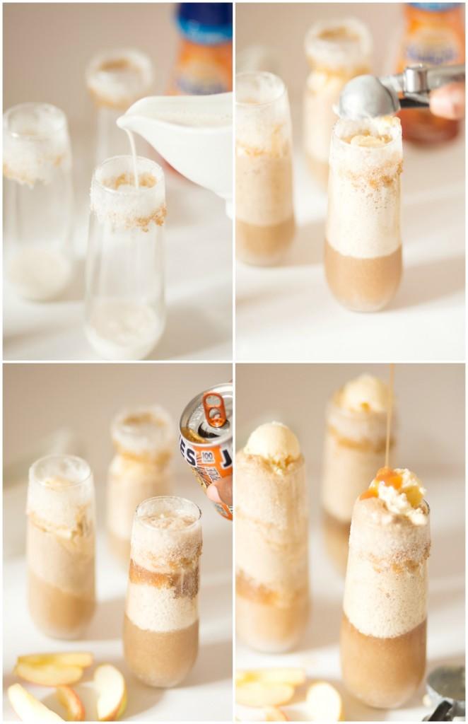 Caramel Apple Root Beer Float