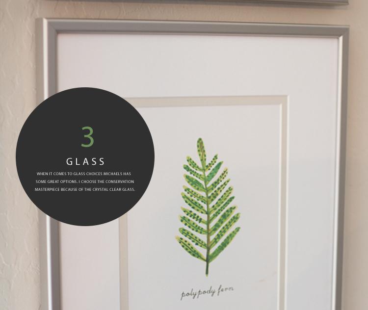 Custom Framing Glass Options