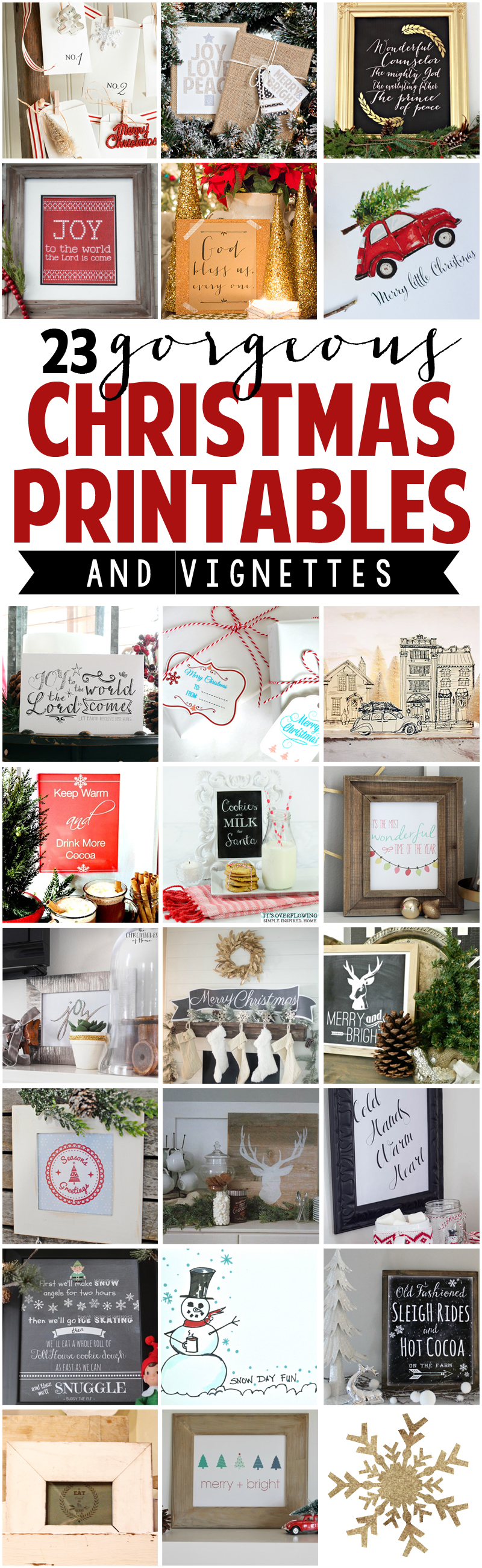 23 Gorgeous Christmas Printables with Display Ideas (1)