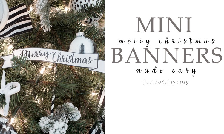 mini merry christmas banners with free printables just destiny