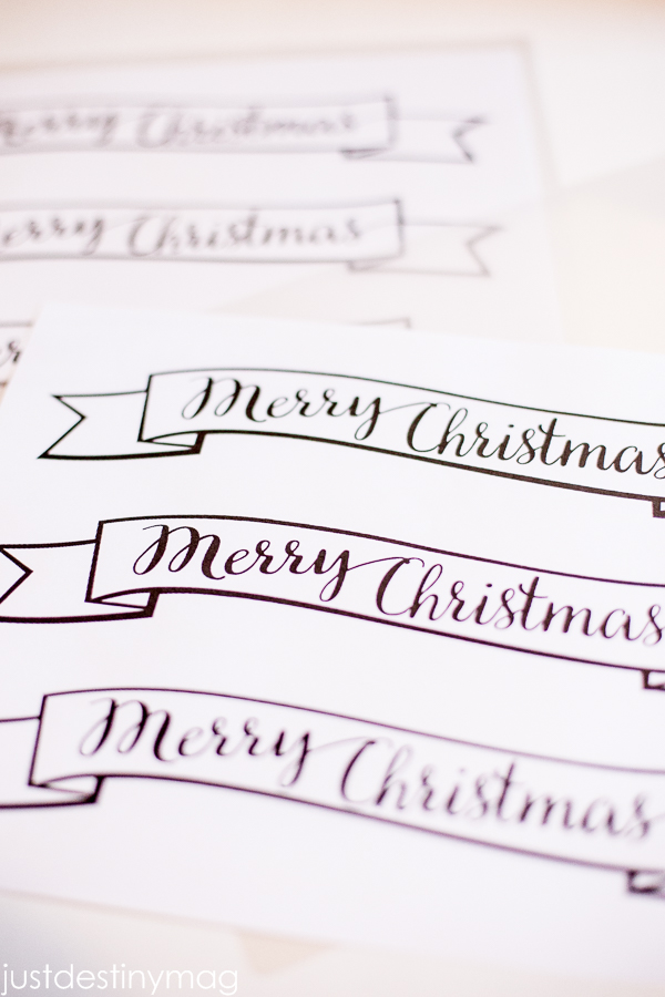 graphic regarding Merry Christmas Sign Printable titled Mini MERRY Xmas Banners with Absolutely free Printables Exactly Future