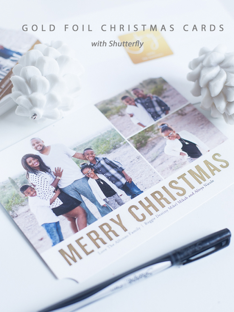 Christmas Cards with Gold Foil Print