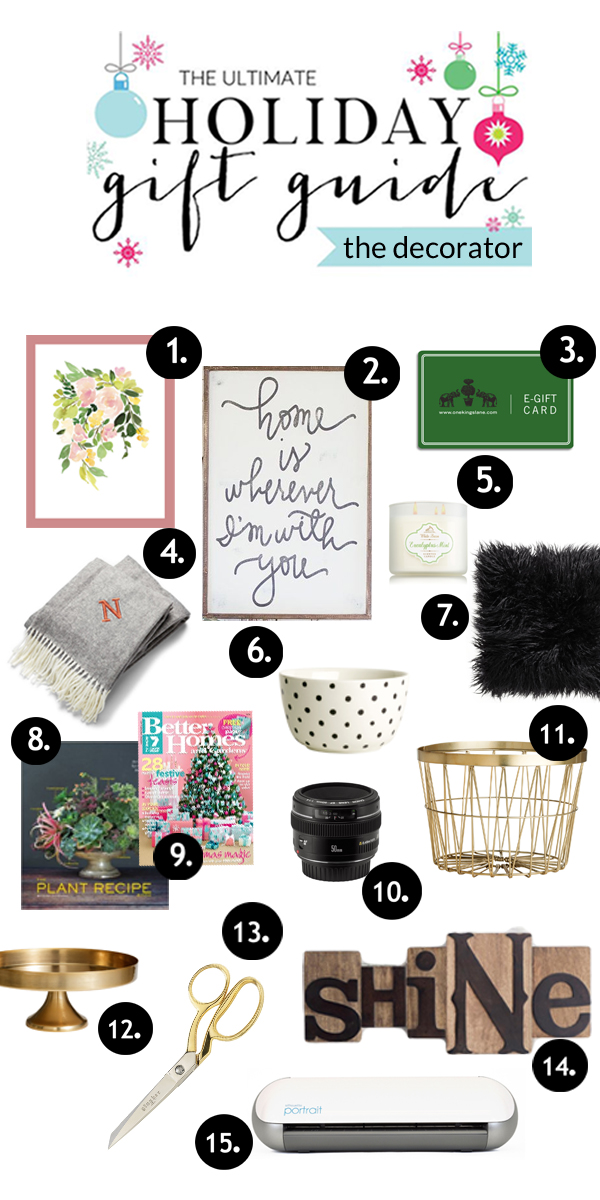 Holiday Gift Guide for the Decorator