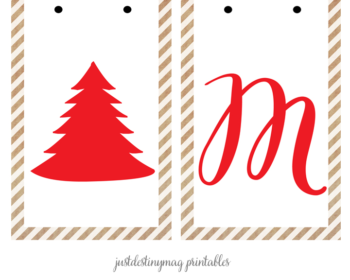 Merry Christmas Banner Printable Just Destiny Mag page5