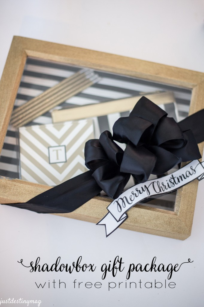 Shadow Box Gift Box with Free Printable Just Destiny Mag for Yellow Bliss Road
