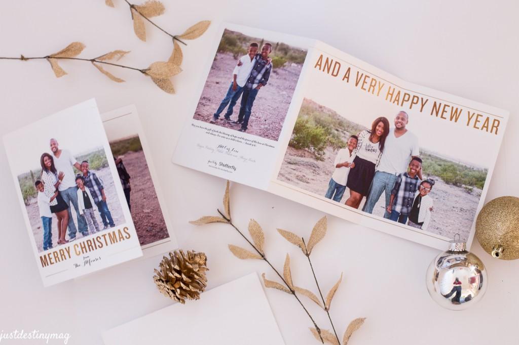 Shutterfly Tri- Fold Christmas Cards