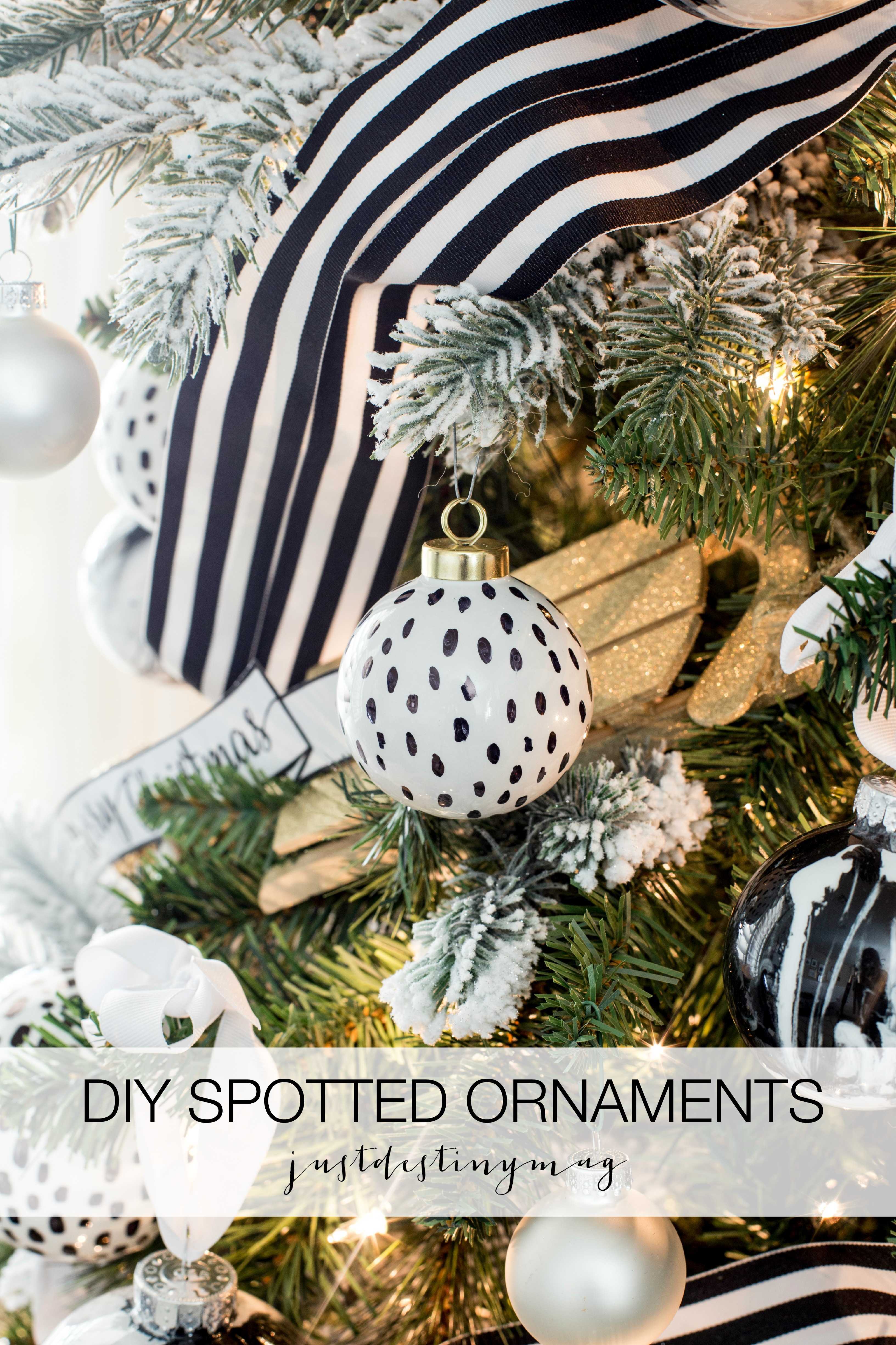 Diy Black And White Spotted Ornaments Just Destiny