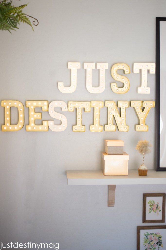 DIY Marquee LETTERS_