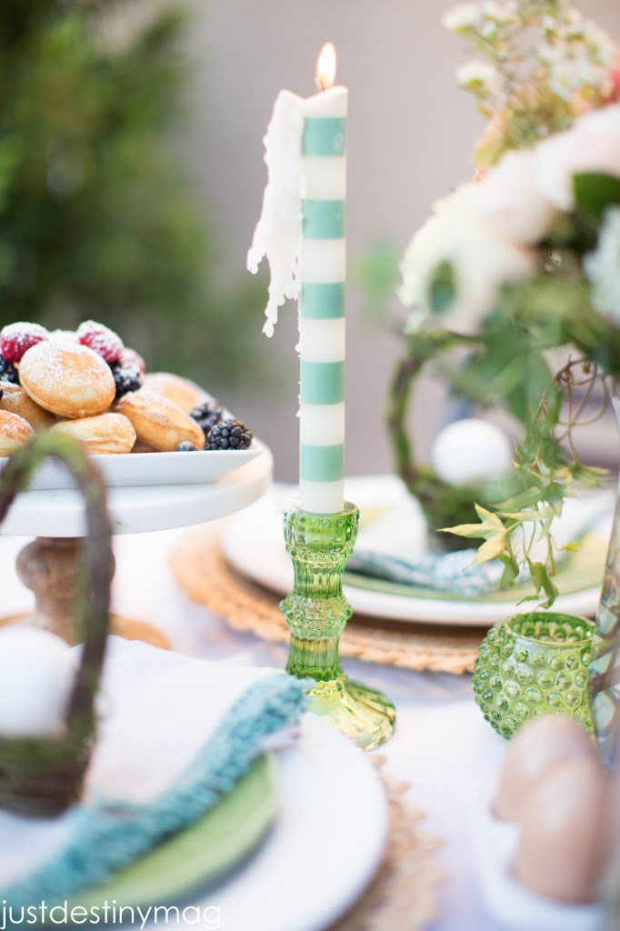 Easter Table with World Market Candle Stick