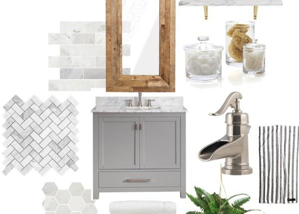 Just Destiny Mag Bathroom Design Board