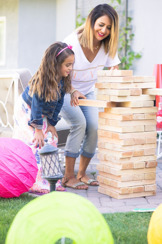 Summer Block Party Games Learn how to make this Giant Jenga Game