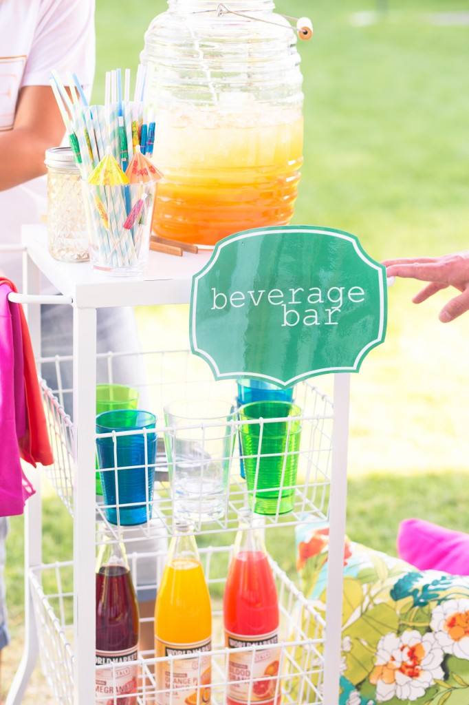 Beverage bar Ideas for your next block party